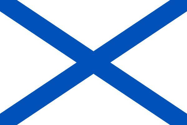 флаг синий крест